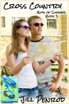 Young couple enjoying a summer vacation standing looking at a map as they try to get their bearings in a foreign city